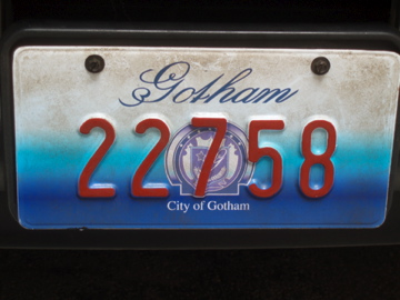 Gotham Police car license